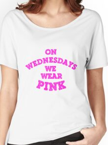 On Wednesdays We Wear Pink. Women's Relaxed Fit T-Shirt
