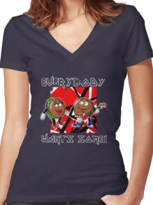 Everybody Wants Some: Better Off Dead Women's Fitted V-Neck T-Shirt