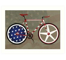 I Love My American  Bike Art Print