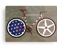 I Love My American  Bike Metal Print