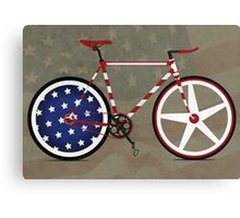 I Love My American  Bike Canvas Print