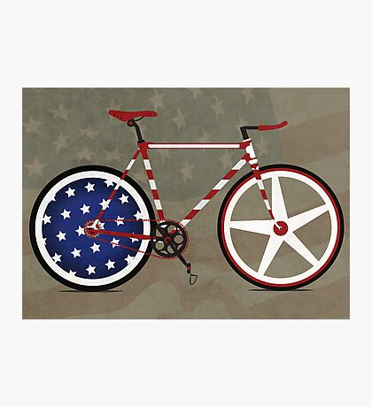 I Love My American  Bike Photographic Print