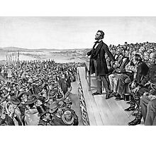 President Lincoln Delivering The Gettysburg Address Photographic Print