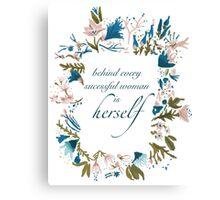 Floral Fem Canvas Print