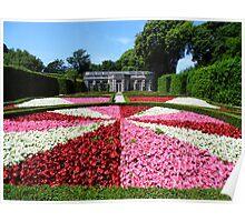 Mount Edgcumbe Flower Display Formal Gardens  - French Garden Poster