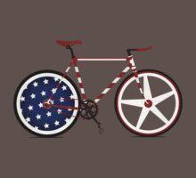 I Love My American  Bike Baby Tee