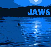 Jaws Poster - Blue Variant by Gordondon