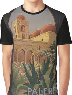 'Palermo' Vintage Travel Poster (Reproduction) Graphic T-Shirt