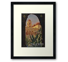 'Palermo' Vintage Travel Poster (Reproduction) Framed Print