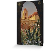 'Palermo' Vintage Travel Poster (Reproduction) Greeting Card