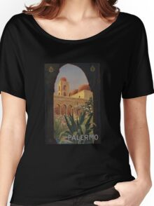 'Palermo' Vintage Travel Poster (Reproduction) Women's Relaxed Fit T-Shirt