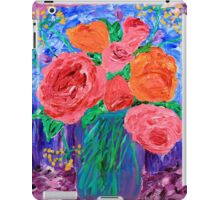 Bouquet of English Roses in Mason Jar Painting iPad Case/Skin