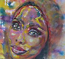 Imany Nadia Mladjao Windows of the Soul  by BAR-ART