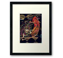 Fractals - Koi in Swirling Water Framed Print