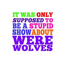 Teen Wolf- Stupid Show About Wolves Photographic Print