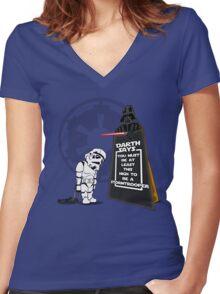 A Little Short Women's Fitted V-Neck T-Shirt