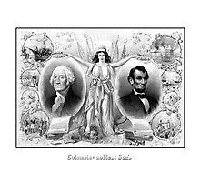 Presidents Washington and Lincoln Photographic Print