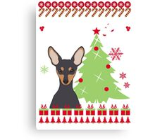 Miniature Ugly Christmas Sweater Canvas Print