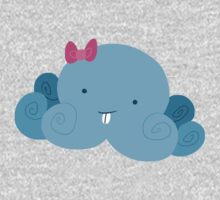 Cute Blue Bucktooth Octopus Kids Tee