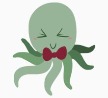 Bowtie Green Octopus by SaradaBoru
