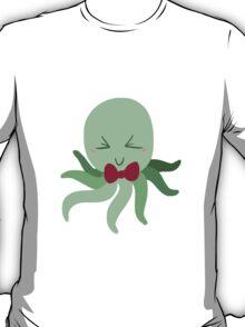 Bowtie Green Octopus T-Shirt
