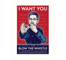 Edward Snowden I Want You Art Print