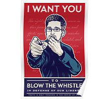 Edward Snowden I Want You Poster