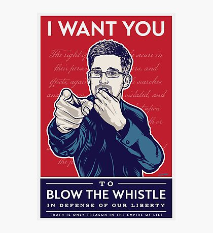 Edward Snowden I Want You Photographic Print