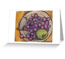 Apple with Grapes Greeting Card
