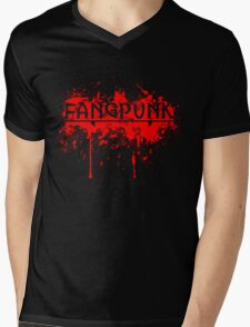 Blood silhouette killer Fangpunk T Shirt Mens V-Neck T-Shirt