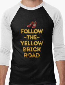 Follow The Yellow Brick Road Men's Baseball ¾ T-Shirt