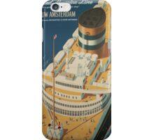 Vintage poster - Cruise ship iPhone Case/Skin