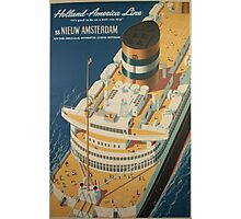 Vintage poster - Cruise ship Photographic Print