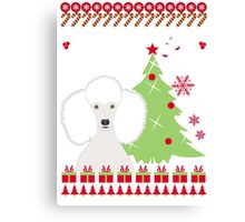 Poodle Ugly Christmas Sweater Canvas Print