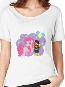 Batgirl and Pinkie Pie Women's Relaxed Fit T-Shirt