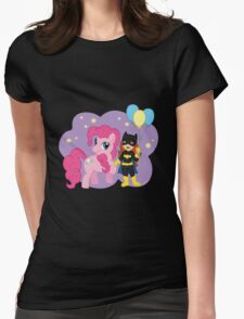 Batgirl and Pinkie Pie Womens Fitted T-Shirt