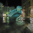 Rialto Bridge, Venice, by night. by MikeSquires