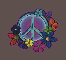 Peace Love and Flowers Tee Kids Clothes