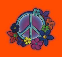 Peace Love and Flowers Tee Kids Tee