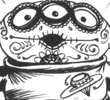 3 Eyed Sugar Skull Sticker