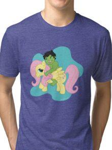 Hulk and Fluttershy Tri-blend T-Shirt