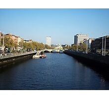 Upriver from Half-Penny Bridge Photographic Print