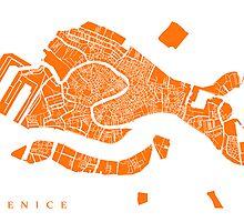 Venice, Italy Map Print by CartoCreative