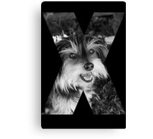 X Marks The Dog Canvas Print