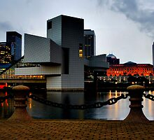Rock and Roll Hall of Fame at Sunset in Cleveland Ohio by Michelle Joseph-Long