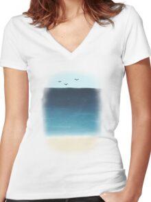 well it's an ocean Women's Fitted V-Neck T-Shirt