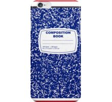 Blue Composition Notebook iPhone Case/Skin