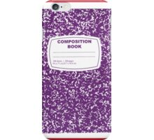 Purple Composition Notebook iPhone Case/Skin