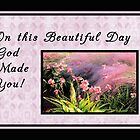 Birthday Card Pink Orchids, Religious by Rosalie Scanlon