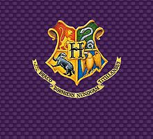Harry Potter Emblem Case. (Purple) by LostKittenClub